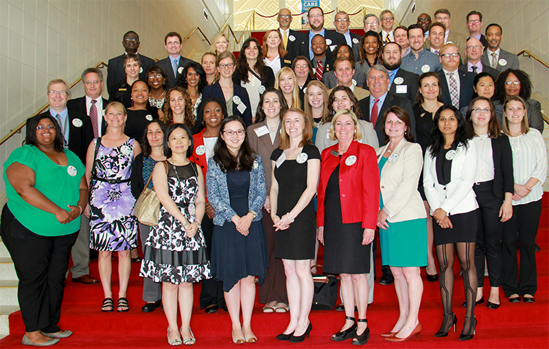 Graduate students from throughout the state were selected to participate in Graduate Education Day at the Capitol.